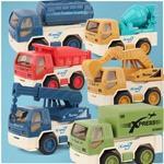 工程车套装 迷你按压惯性滑行组合儿童汽车玩具