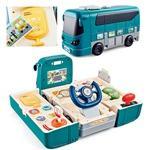 儿童方向盘巴士宝宝启智开车方向盘 男孩变形公交车玩具
