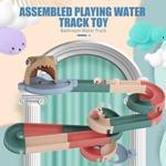儿童新款拼装滚珠轨道滑梯转转了 DIY自由拼装戏水玩具