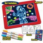 3D画板 儿童启智磁性荧光夜光涂鸦板儿童画板
