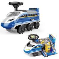 儿童车 宝宝故事灯光可坐轨道学步滑行童车