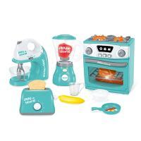厨房玩具 儿童仿真电动灯光音效4合1小家电玩具