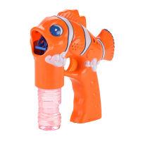 实色新小丑鱼带灯光音乐泡泡枪 2瓶水