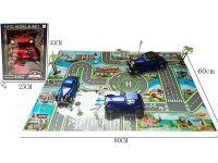 惯性老爷车古董车模型停车场景游戏套装+1PCS大地图+12PCS路标树等