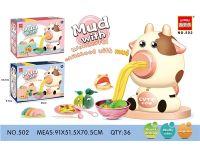 彩泥玩具-奶牛面条机两色混装