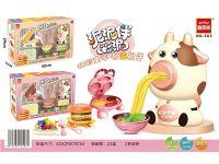 彩泥玩具-奶牛面条机开窗盒两色混装