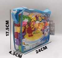 公主积木背包过家家书包DIY玩具城堡男生女生儿童益智地摊夜市58颗粒