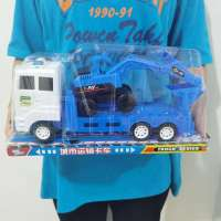 惯性车P罩装载车工程车模型手动推土车男孩玩具车礼物机构礼物