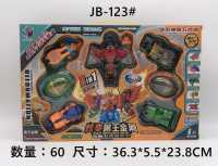 5合1变形兽王儿童男孩玩具动物合体机甲变形战队组合机器人金刚