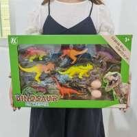 6只盒装仿真野生动物恐龙农场海洋模型套装儿童恐龙玩具摆件批发