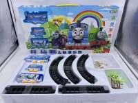 新款儿童电动托马思小火车地摊玩具小孩益智拼装轨道玩具车套装