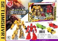 新款儿童卡通变形金刚变形战神机器人小车模型礼品礼盒玩具批发