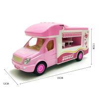 乐飞8511售卖车旅行车中英文切换门可开惯性音乐故事玩具车直售