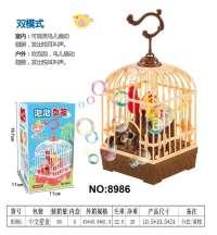 新款音乐鸟笼泡泡机夏季电动泡泡机儿童全自动吹泡泡玩具厂家批发