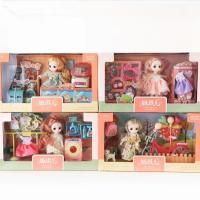 妍琪儿女孩场景过家家玩具迷你娃娃魔法换装宠物卧室仿真3688-85