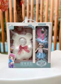 萝莉6寸小巴比洋娃娃斜挎包可爱公主毛绒女生背包宝宝生日礼物