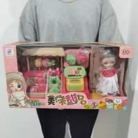 跨境儿童仿真超市售货台购物车组合套装过家家超市扫描收银台玩具
