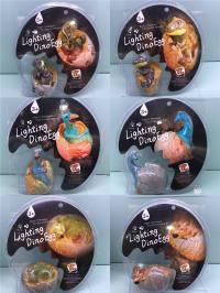 恐龙蛋(声光)6款混装 搪塑搪胶玩具